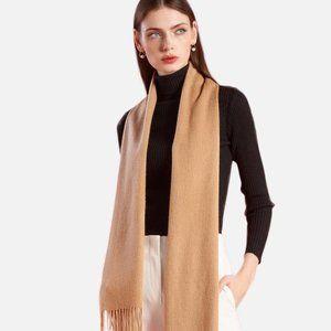 Camel Cashmere Scarf Soft New